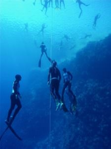 Matt Malina brake national record dive 70m without fins single breath Blue Hole Dahab Egypt Freediving