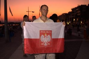 Polish Flag Matt Malina Depth World Championships Greece