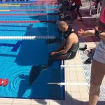 Matt Malina Limitless sitting on the edge of pool before dynamic world championships