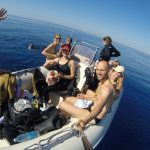 Matt Malina Limitless smiling with group of freedivers after depth session
