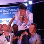 Matt Malina Limitless with other freedivers celebrating epic dive of Guillaume Nery freediving -1