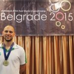 Matt Malina Limitless on podium world champion ceremony gold medal freediving world championships -2