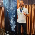Matt Malina Limitless on podium world champion ceremony gold medal freediving world championships -3