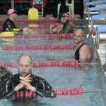 Matt Malina on surface after swimming 300m and setting new world record in dynamic with fins