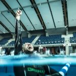 Matt Malina very happy after setting new dynamic freediving world record 285