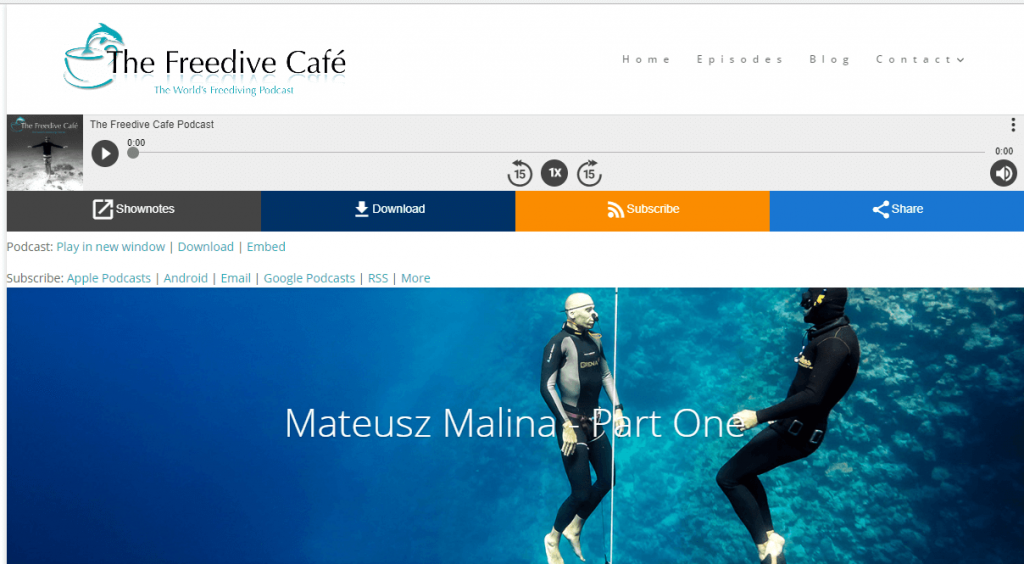 matt malina freedivecafe podcast limitless part one