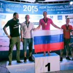 Mateusz Malina Alexey Molchanov Miguel Lozano Stig Pryds on podium gold medals depth world championships