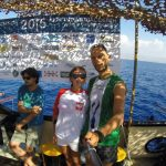 Matt Malina Limitless with coach on boat after Freediving training FIM depth world championships